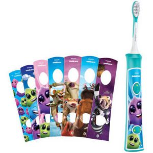 Eight different stickers come in a box of Philips Sonicare for Kids. It keeps them engaged, the best electric toothbrush for 5 year old.