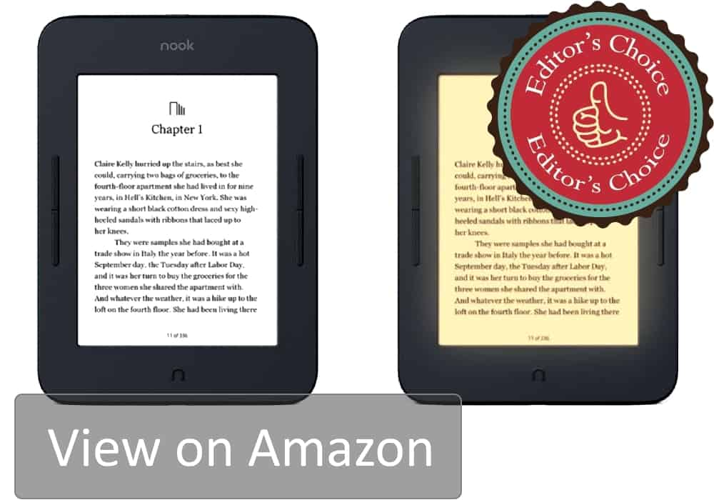 The best newcomer eBook reader on the market. Barnes and Noble Nook Glowlight 3 is the best general purpose eReader there is. It will surprise with amazing practicality and usability unseen before in this price range.