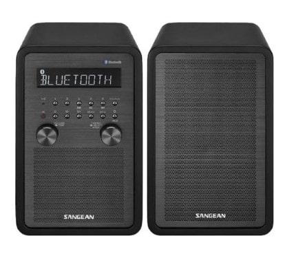 FM / AM / Bluetooth Wooden Cabinet Receiver Compatible with SP-40 Slave Speaker