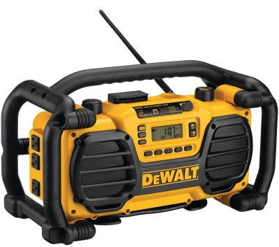 DeWALT DC012 is a battery charger radio that keeps a good balance in check between being ridgid, product quality, durability and portability