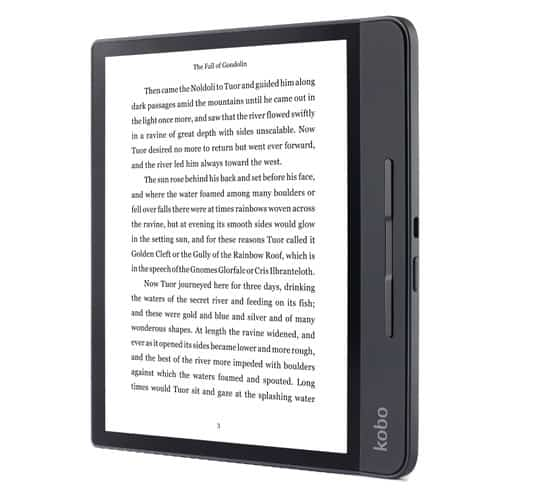 Kobo eReaders with beautiful form factor that post competition to amazon's kindle